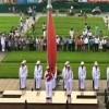 Lễ chào cờ trước lăng Bác Hồ